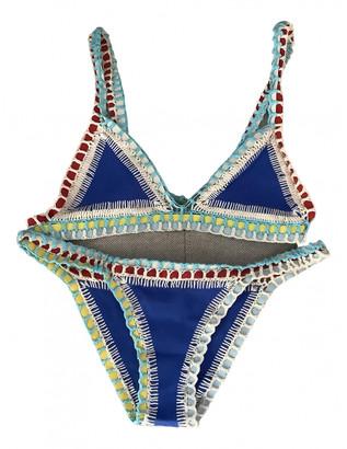 Kiini Blue Lycra Swimwear