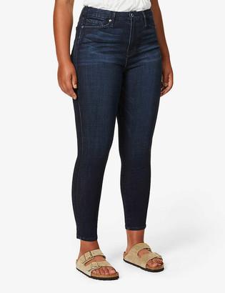 Good American Good Waist crop stretch-denim jeans