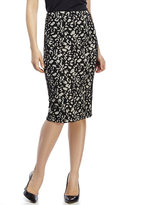 Spense Textured Pattern Pencil Skirt