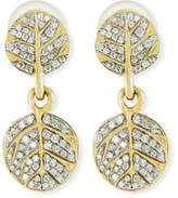 Michael Aram Botanical Double Leaf Drop Earrings with Diamonds