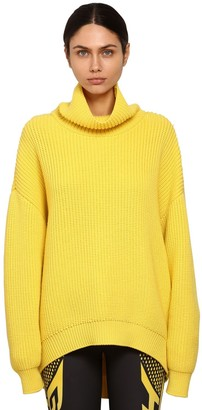 Givenchy Oversize Wool Rib Knit Sweater