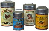 Unknown Vintage Canisters: Sugar, Flour, Coffee, Tea