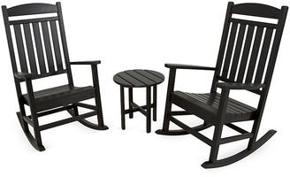 One Kings Lane Ivy Terrace 3-Pc Rocker Seating Set - Black