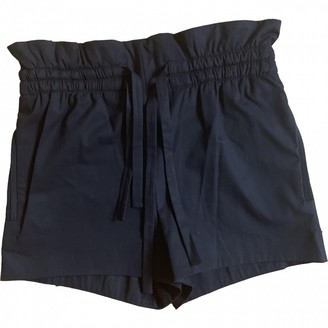 IRO Black Cotton Shorts for Women