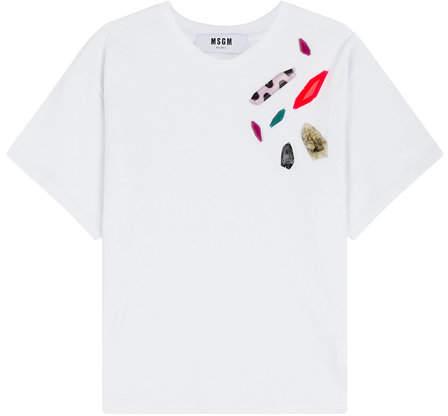 MSGM Embellished T-Shirt