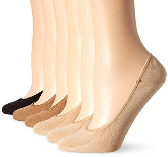 Hot Sox Women's Solid Liner 6 Pack Sock