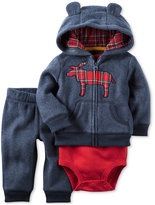 Carter's 3-Pc. Moose Hoodie, Bodysuit & Pants Set, Baby Boys (0-24 months)