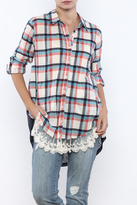 Umgee USA Plaid Button Up Top