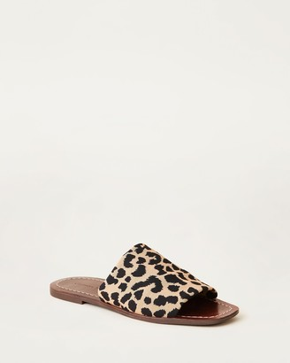 Loeffler Randall Daria Stretch Slide Leopard/Brown