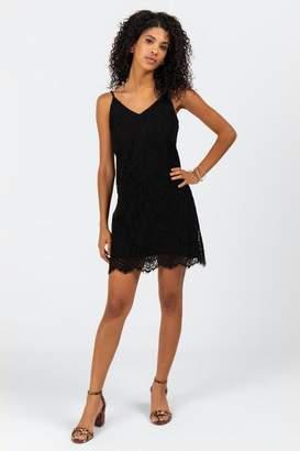 francesca's Tate Lace Cami Dress - Black