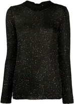 M Missoni knitted sequin embellished top