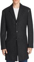 John Varvatos Wool Blend Leather Trim Top Coat - 100% Bloomingdale's Exclusive