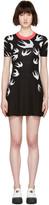 McQ by Alexander McQueen Black Wool Jacquard Swallows Dress