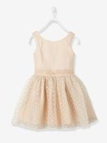 Vertbaudet Girl's Sateen & Tulle Occasion Dress