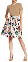 Nicole Miller Flower Dot 3D Full Shirred Skirt