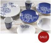 Viners PRICE & KENSINGTON MIDNIGHT BLOSSOM 16 PIECE DINNER SET