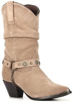 Dingo Tan Slouchy Olivia Leather Western Boot - Women