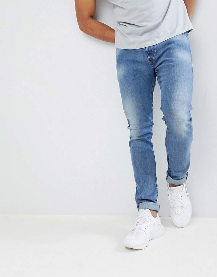 Diesel Tepphar Skinny Jeans with Back Pocket Detail