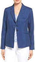 Nordstrom &Rosemary& Two-Button Linen Blend Twill Jacket