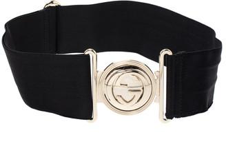 Gucci Black Elastic Band GG Buckle Belt 75CM