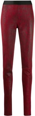 Ann Demeulemeester Textured Slim Fit Leggings