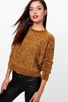 boohoo Donna Cable Front Chenille Jumper