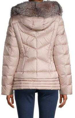 Dawn Levy Nikki Fox Fur Down Puffer Jacket