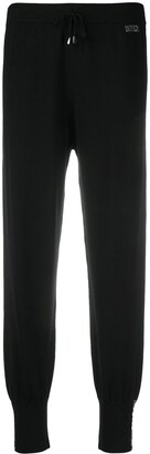 Liu Jo Rhinestone Logo Track Pants