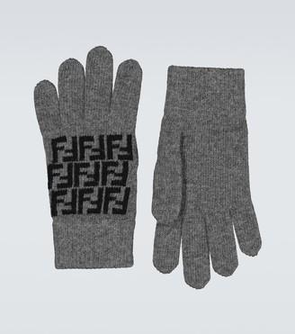 Fendi FF wool gloves