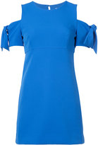 Milly knotted sleeves dress - women - Elastodiene/Polyamide/Polyester - 4