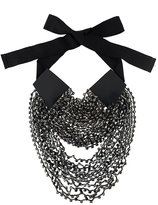 Ann Demeulemeester layered beads long necklace