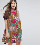 Alice & You Short Sleeve Printed Swing Shirt Dress