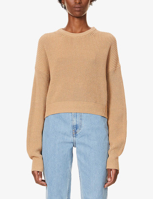 Reformation Sami cropped organic-cotton jumper