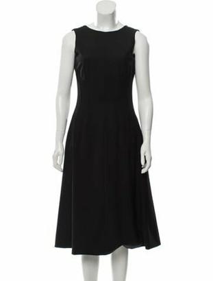 Dolce & Gabbana Virgin Wool Sleeveless Dress Black