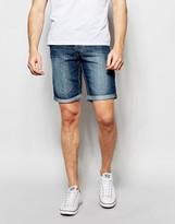 Blend of America Denim Shorts Twister Slim Fit Mid Wash