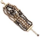 St. John Swarovski Crystal Pearl Loop Bracelet