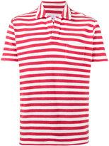 Orlebar Brown Red Terry stripe polo shirt - men - Cotton - M