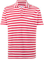Orlebar Brown Red Terry stripe polo shirt