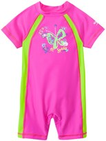 Speedo Girls' Short Sleeve Sun Suit UPF 50+ (12mos3T) - 8137136