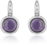 Tagliamonte Mia & Beverly Amethyst and Diamond 18K White Gold Earrings