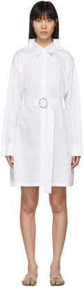 Maison Margiela White Poplin Double Collar Dress