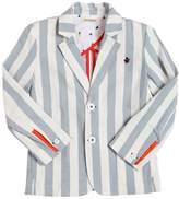 Striped Stretch Denim Jacket