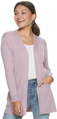 So Juniors' Ribbed Boyfriend Cardigan