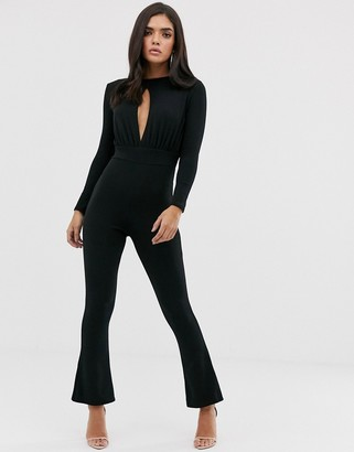 In The Style Keyhole Wide Leg Jumpsuit