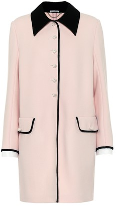 Miu Miu Embellished wool coat