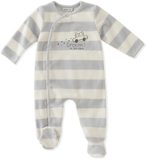 Absorba Gray & White 'Vroom! in the Stars' Car Footie - Infant