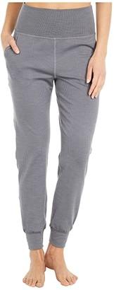 Beyond Yoga Heather Rib Midi Joggers (Black Heather) Women's Casual Pants