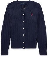 Ralph Lauren Mini-Cable Cotton Cardigan