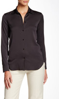Helmut Lang Collared Silk Blend Blouse