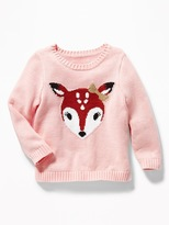 Old Navy Critter Graphic Sweater for Toddler Girls
